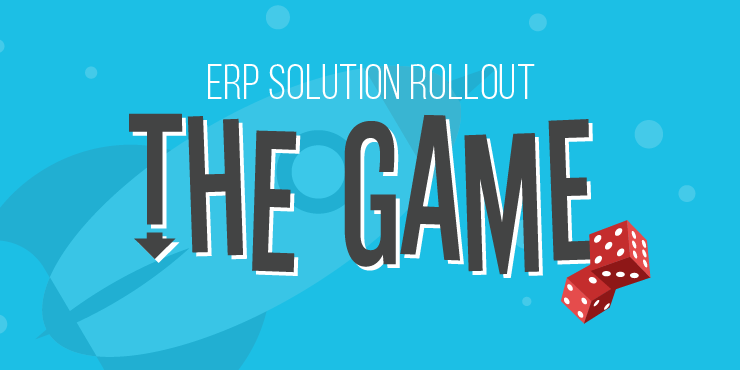 erp solution rollout the game infographic