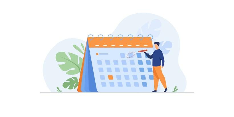 Gestion de planning en société de services : un homme coche un calendrier